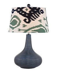 Penarth Ceramic Table Lamp in Navy Blue by