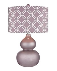 Ivybridge Ceramic Table Lamp in Lilac Luster by