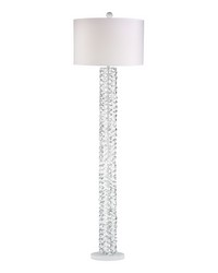Elgin Metal Ribbon Floor Lamp in Gloss White by