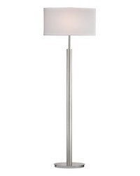 Port Elizabeth Floor Lamp in Satin Nickel by