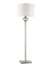 Edenbridge Antique Mercury Glass Floor Lamp with LED Nightlight by