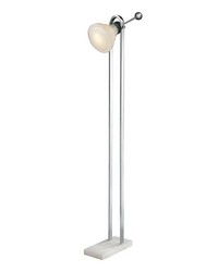 Vintage Ball Handle Adjustable Floor Lamp in Polished Nickel by