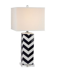 Chevron Table Lamp in Navy by