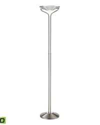 Sovaco 2 Light LED Floor Lamp in Polished Chrome by