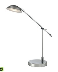 Alban Adjustable LED Desk Lamp in Polished Chrome by