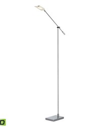 Bibliotheque Adjustable LED Floor Lamp in Polished Chrome by