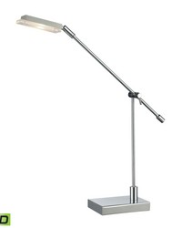 Bibliotheque Adjustable LED Desk Lamp in Polished Chrome by