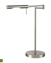 Laonia Adjustable LED Desk Lamp in Polished Chrome by