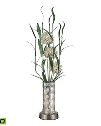 Windbear Contemporary Floral Display Floor Lamp In Silver by