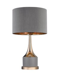 Small Gold Cone Neck Lamp by