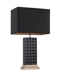 Black Stud Ceramic Lamp by