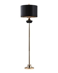 Black Ribbed Genie Floor Lamp by