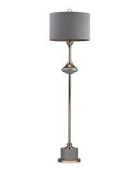 Gold Fluted Neck Floor Lamp by