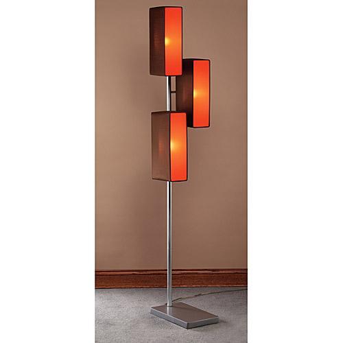 Brown Vivid Light Box Floor Lamp Lumisource - InteriorDecorating
