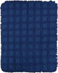 Tufted Cotton Throw Navy by