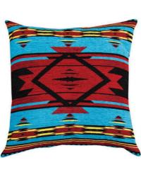Flame Bright Tapestry Chenille Pillow by