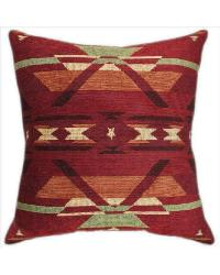 Flame Tapestry Chenille Pillow by
