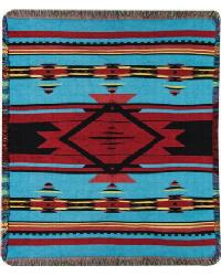 Flame Bright Tapestry Throw by