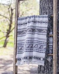 Navajo Taupe -50x60 Tap Throw by
