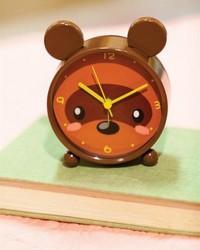 Bear Small Animal Table Clock by