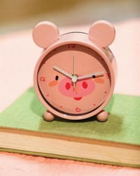 Pig Small Animal Table Clock by