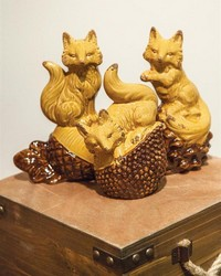 Ceramic Fox Asst Set  by