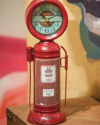 Retro Gas Pump Table Clock by