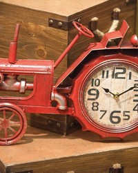 Tractor Table Clock by