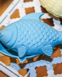 Cast Iron Fish Trinket Box Set  by