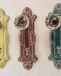 Crystal Door Knob Wall Hook Asst Set  by