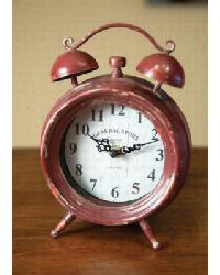 Table Clock Red by
