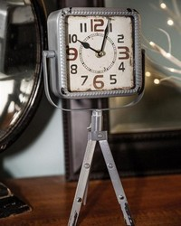 Easel Table Clock Gray by
