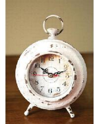 Pocket Watch Table Clock Cream by