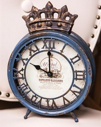 Royal Ivy Table Clock Blue by