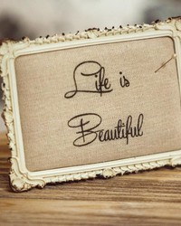 Life Is Beautiful Pin Cushion Stand by