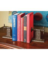 Clamp Cast Iron Book End Set of 2 by