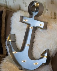 Anchor Lighted Wall Decor by
