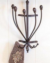 Iron Wall Hat Rack by