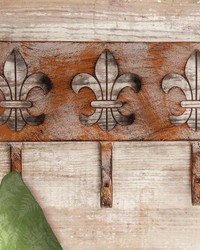 Iron Fleur De Lis Triple Wall Hook by
