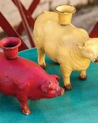 Barnyard Candleholder Set  by