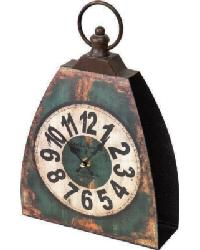 The Shed Kettle Bell Clock Green by
