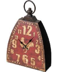 The Shed Kettle Bell Clock Red by