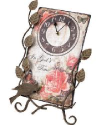 Flower Market In Gods Time Clock With Easel by