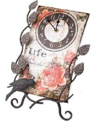 Flower Market Life Clock With Easel by