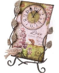 Flower Market Love Clock With Easel by
