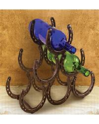Iron Horseshoe Wine Rack by