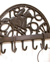 Cast Iron Cowboy Half Round Hook Set  by