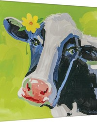 Bossy The Cow Canvas Art by