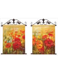 Field Of Floral Canvas Art Set of 2 by