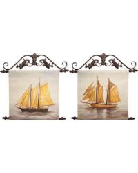 Sailing Canvas Art Set of 2 by